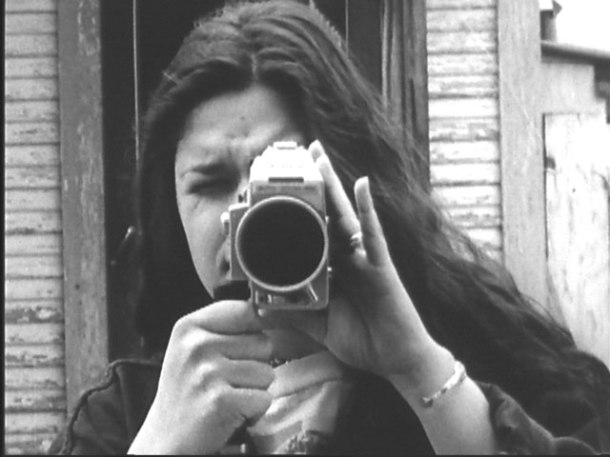 Mariana Vásquez (%22La Molly%22), with her Super 8 camera in Pretty Vacant by Jim Mendiola