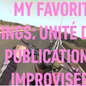 « My Favorite Things : unité de publications improvisées », FILAF, juin2019